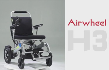 Airwheel H3 full-automatic folding smart wheelchair.