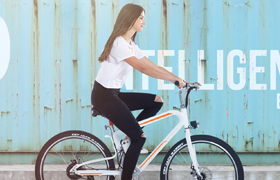 Airwheel new model R8 mountain electric bike.