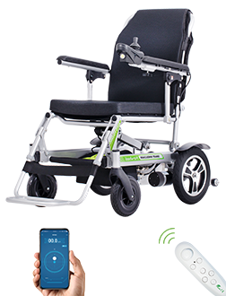Remote mobility wheelchair (Can be Manually Pushed), wheelChair Weights around 19.5kg,Supports up to 220 Pound Person